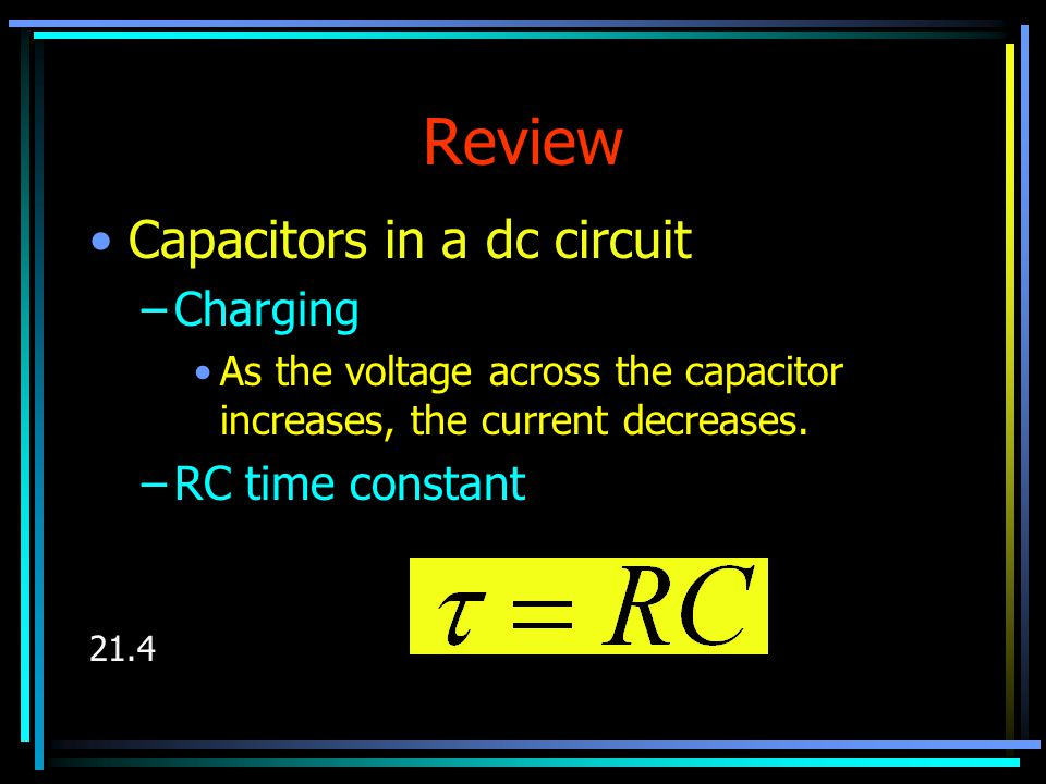 Capacitors In An ac Circuit In a capacitive ac circuit, the current always leads the voltage by 90 o.