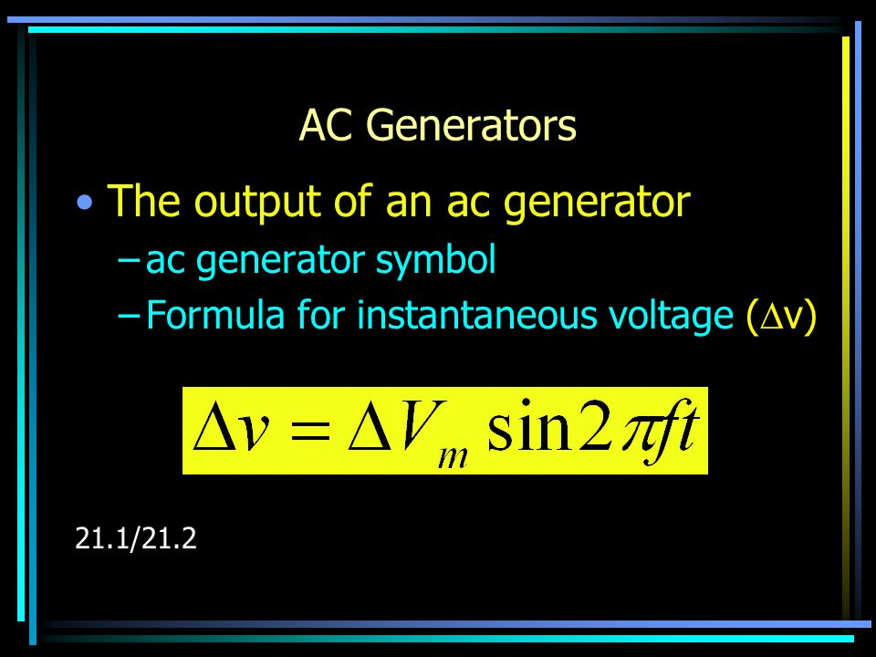 Resistors In An ac Circuit Current and voltage are in step with each other. (in phase)