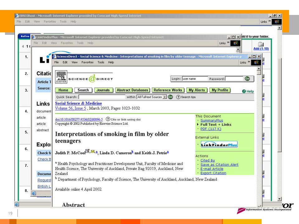 20 LinkFinder Plus OpenURL is the worldwide standard for linking Context sensitive – All your subscriptions are stored in the LinkFinderPlus Knowledge Base – No dead-links.