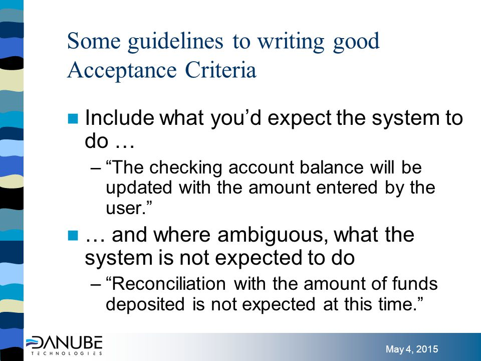 May 4, 2015 References Users Stories Applied , Mike Cohen Agile Estimating and Planning , Mike Cohen http://www.ScrumAlliance.org