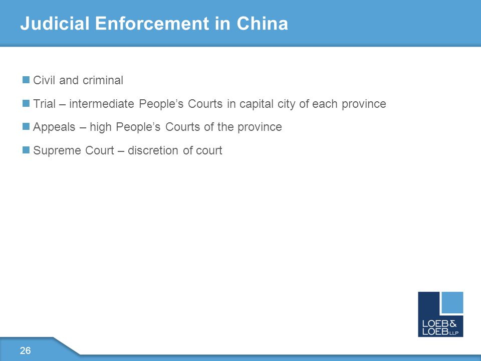27 Invalidity – First at SIPO Patent Re-Examination board at SIPO File lawsuit to challenge ruling of board The Beijing No.