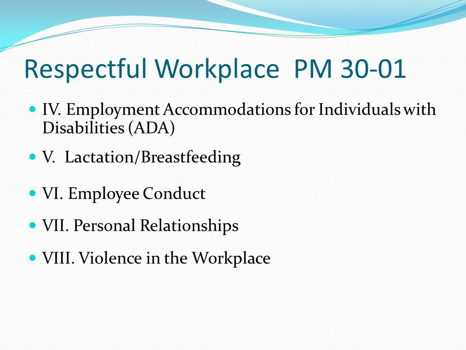 Respectful Workplace PM 30-01 Roles & Responsibilities Managers & Supervisors Coaching & Documentation