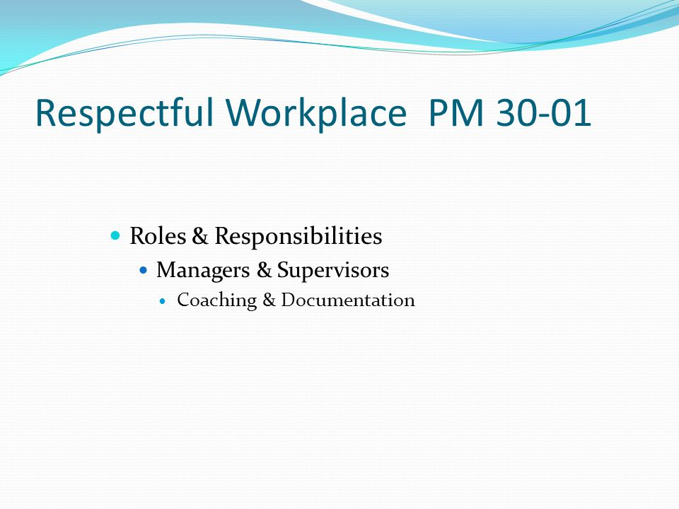 Respectful Workplace PM 30-01 Insight and Action Plan Questions Acknowledgement Form