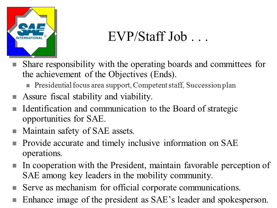 Operating Board, Committee, Staff Job...