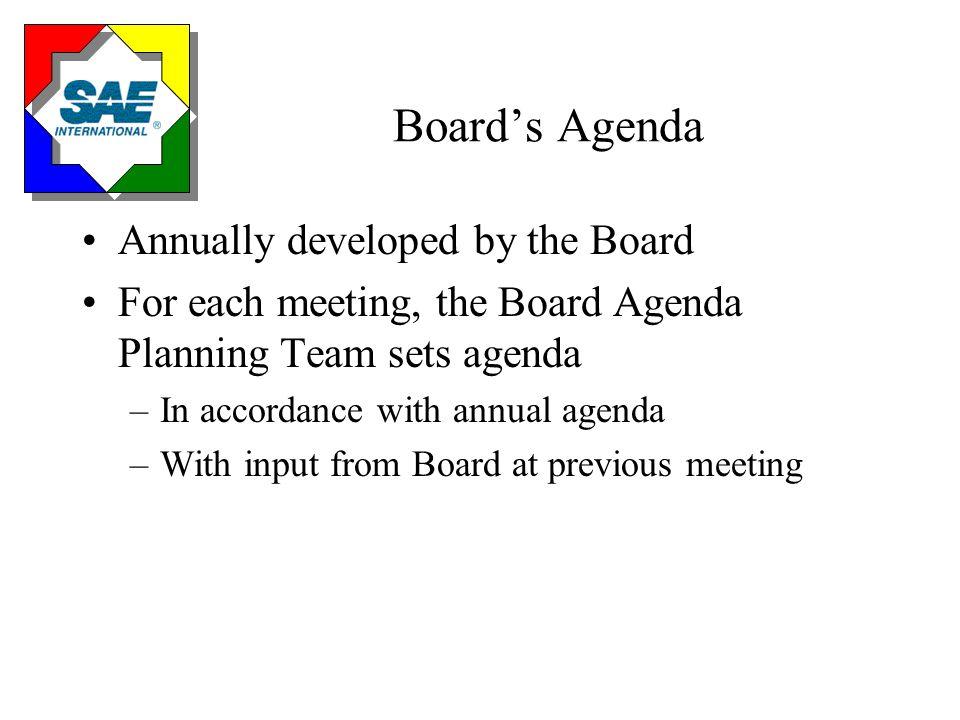 Board's Business is...