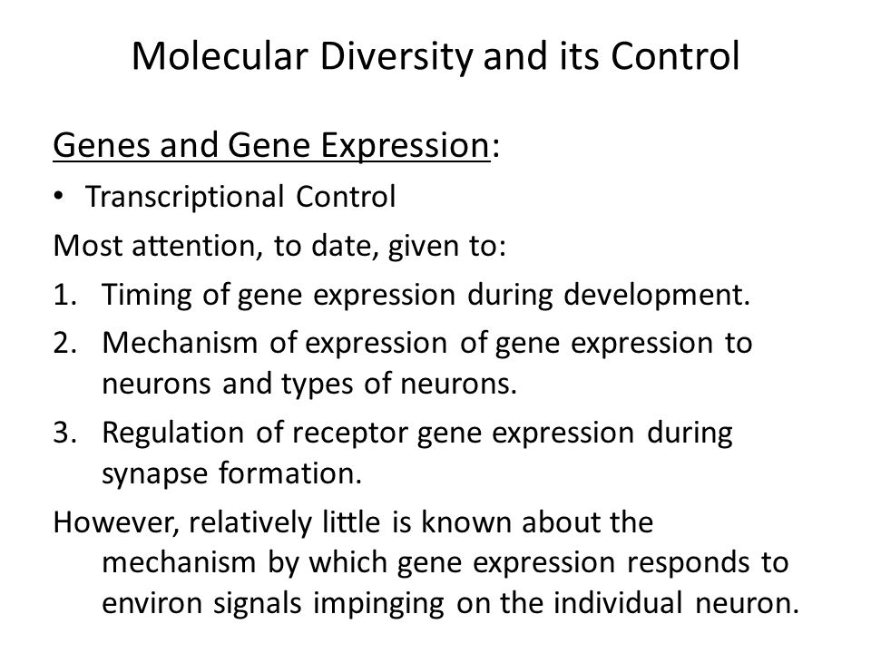 Molecular Diversity and its Control Genes and Gene Expression: Multiprotein transcriptional complex consisting of RNA Pol II and a plethora of ancillary factors.