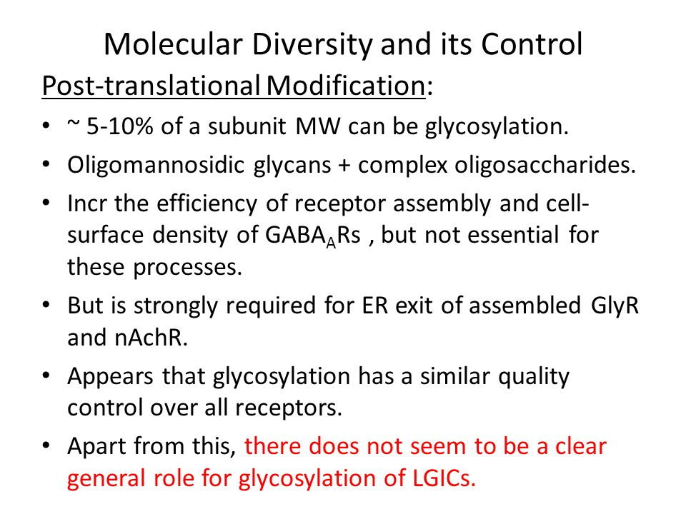 Molecular Diversity and its Control Receptor Assembly and Trafficking: Peptide synthesis.