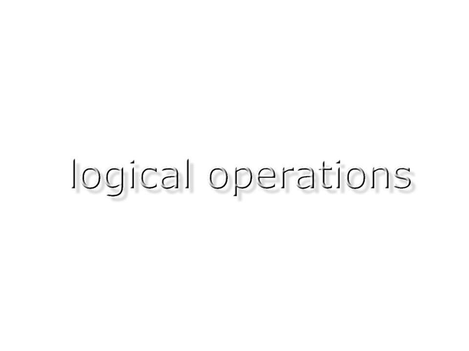selection principle: logical operations