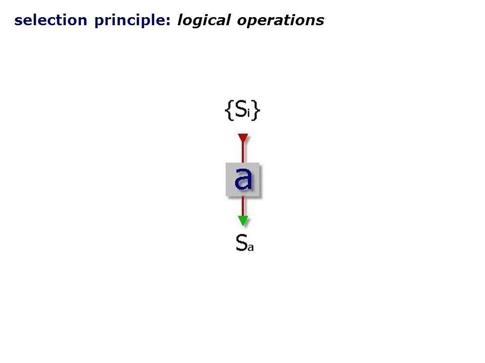 selection principle: logical NOT operation