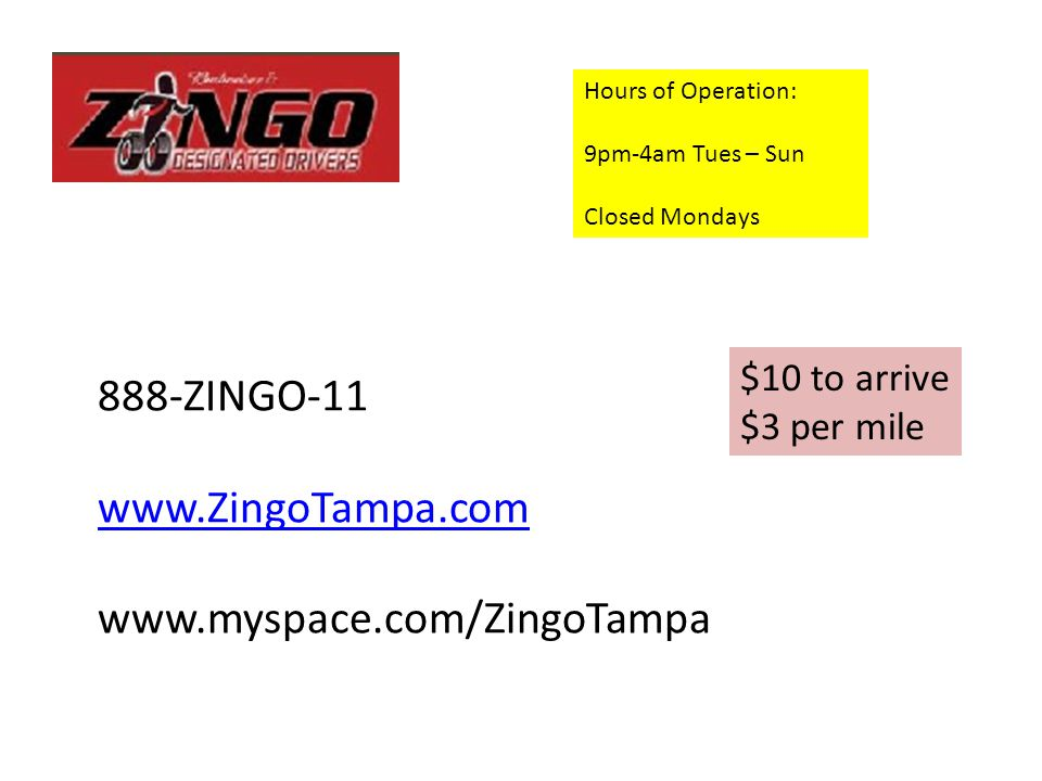 Yellow Cab Of Tampa Serving the Tampa Area. (813) 253-0121