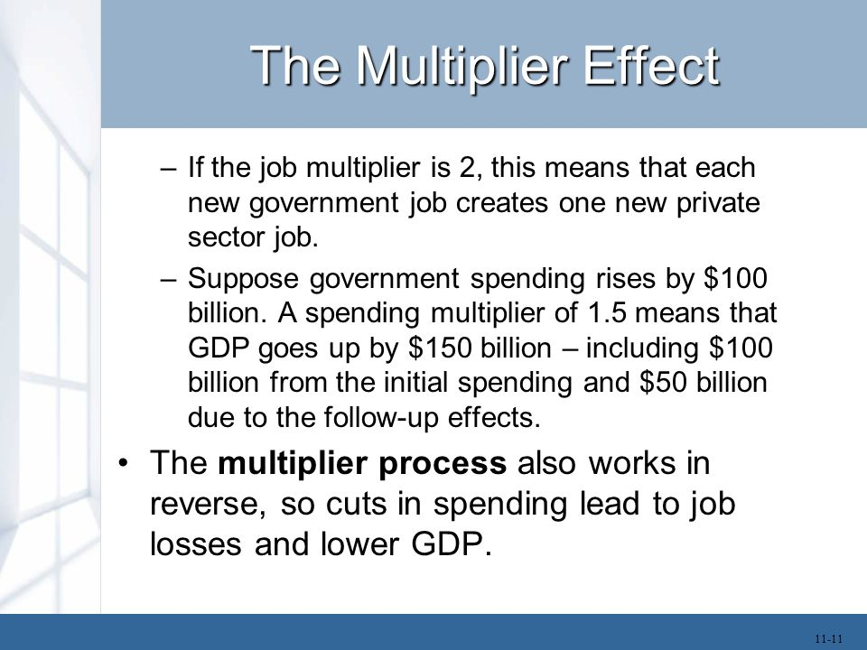 Marginal Propensity to Consume The question is, what determines the size of the multiplier.