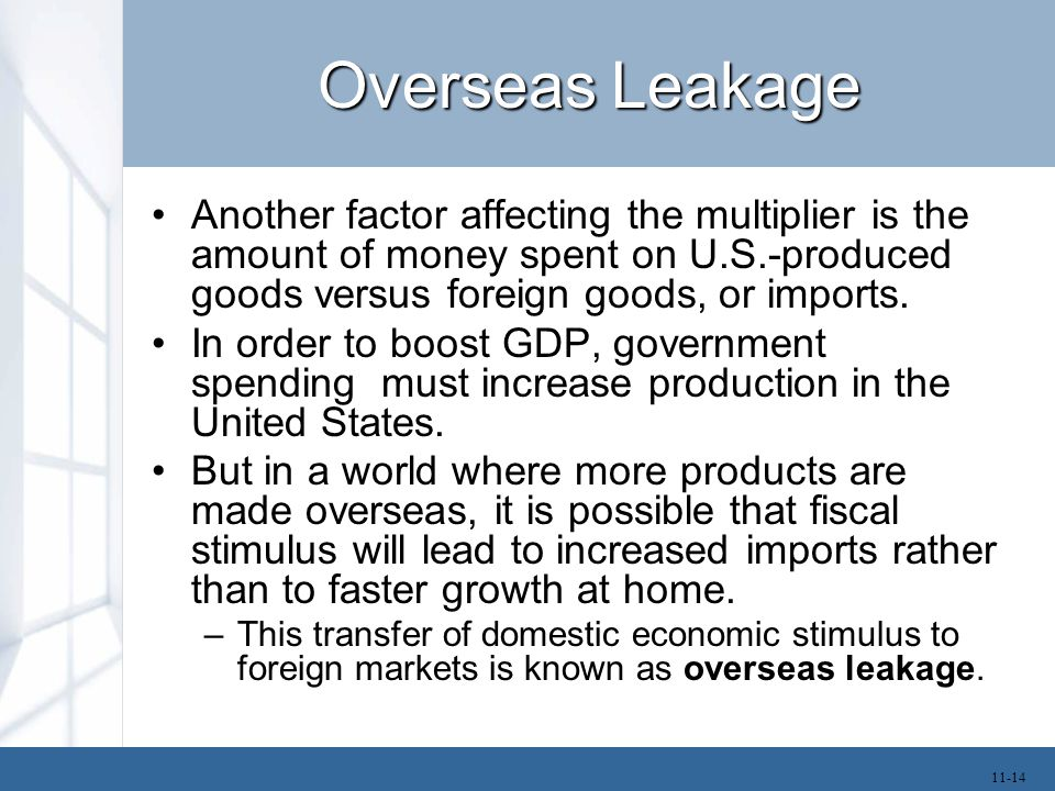The Size of the Multiplier The multiplier depends on the value of MPC and percentage of income consumers spend on imported goods.