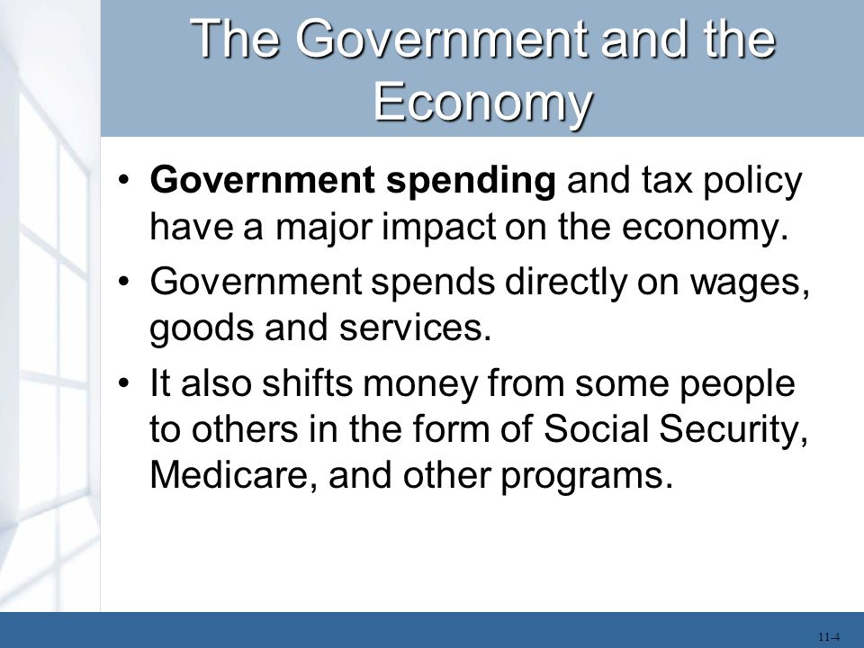 The Government and the Economy In the private sector, spending occurs through market transactions.