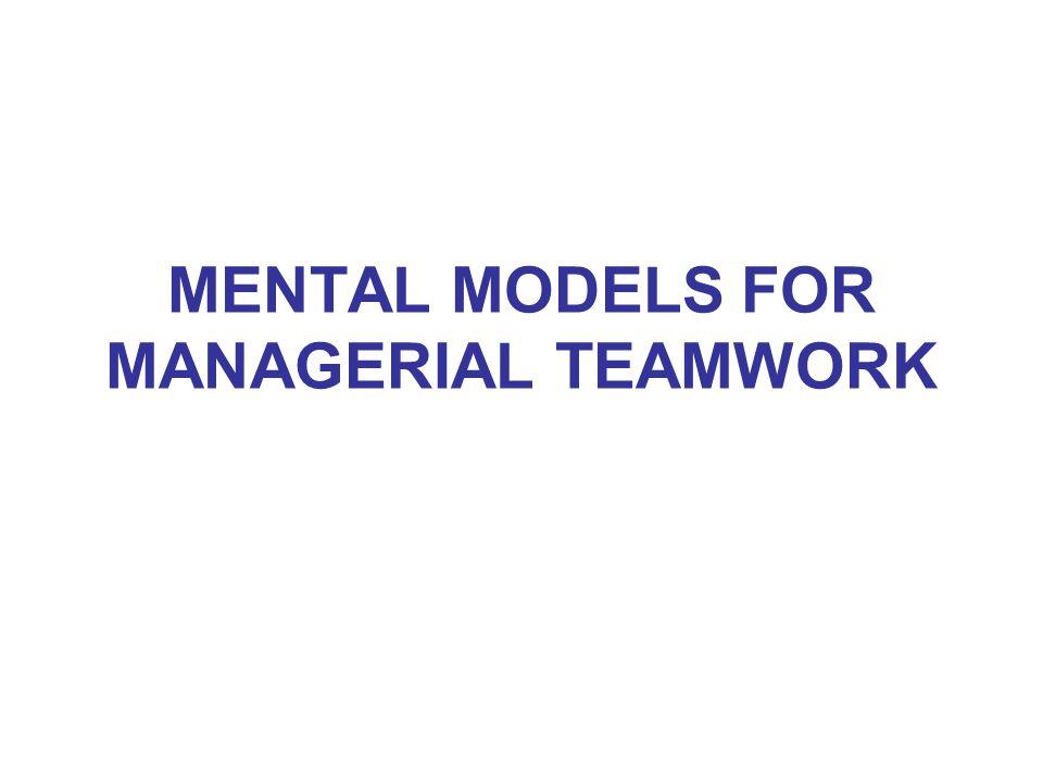 MENTAL MODELS FOR MANAGERIAL TEAMWORK