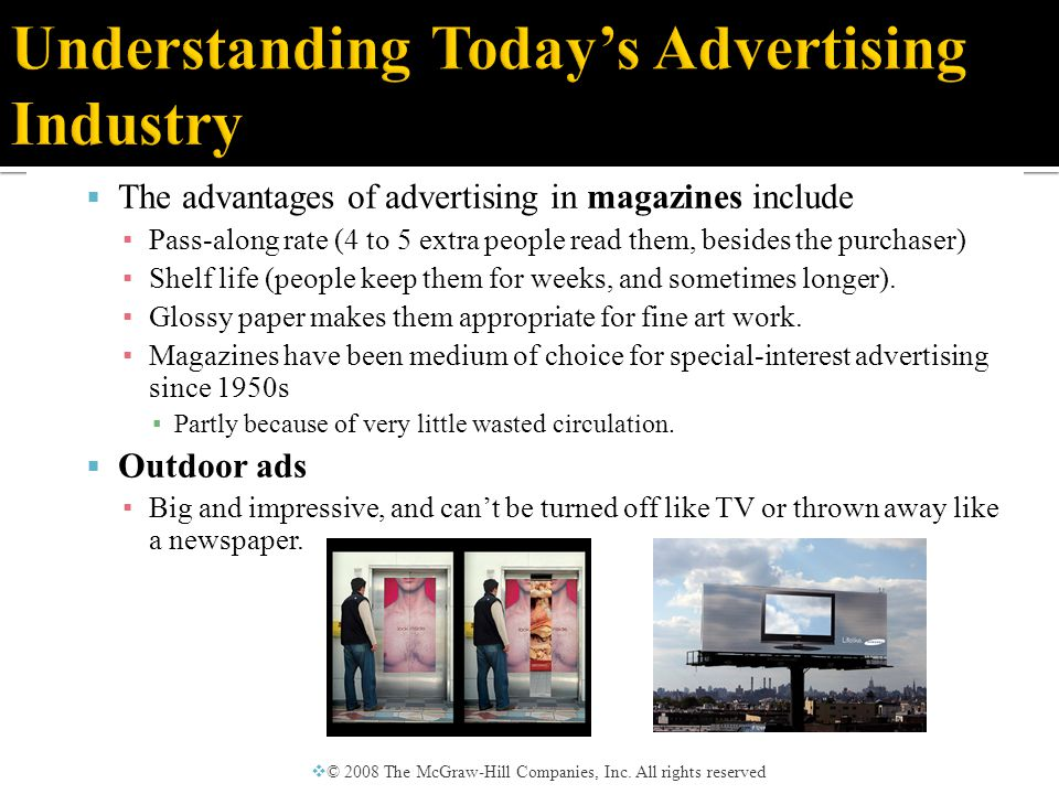  The Internet is the most rapidly growing medium of advertising, earning nearly $7 billion annually by 2007.