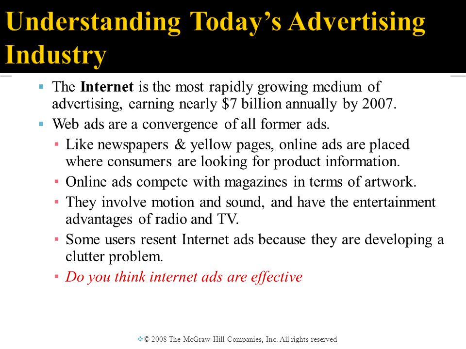  Advertising Objectives ▪ Image advertising – ▪ Promoting an idea that is associated with the product in the audiences mind.
