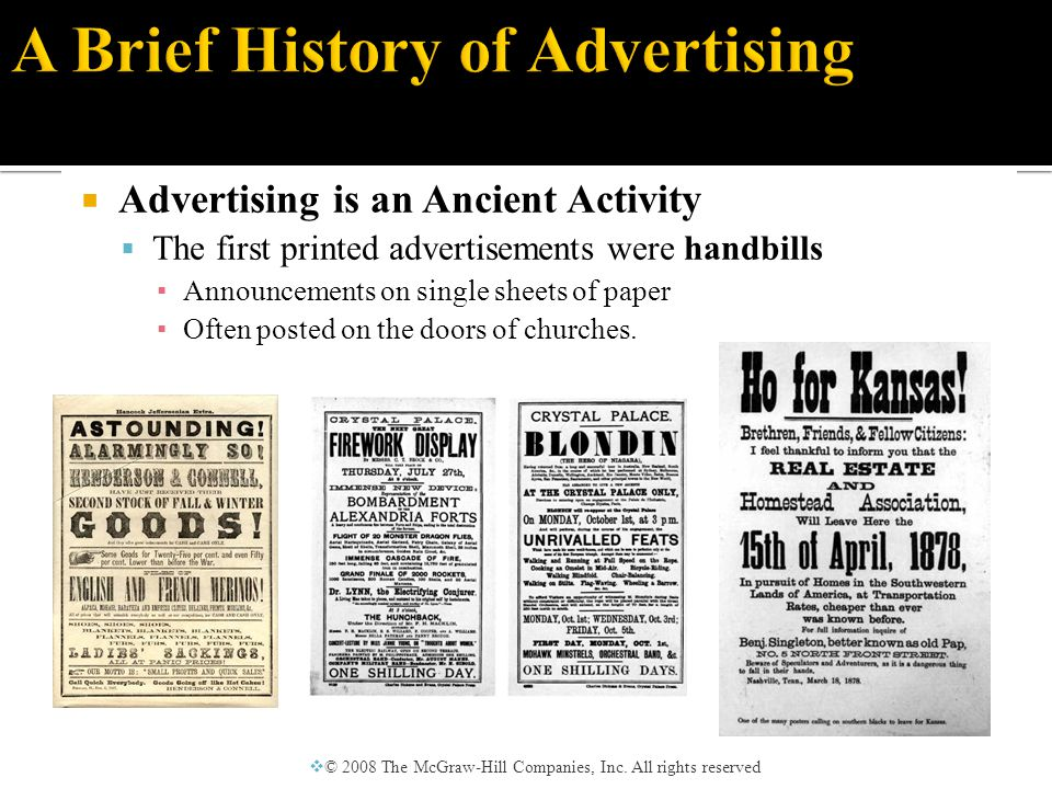  Advertising Comes to America  Many settlers came to America because of advertisements they read in England touting free and fertile farmland.