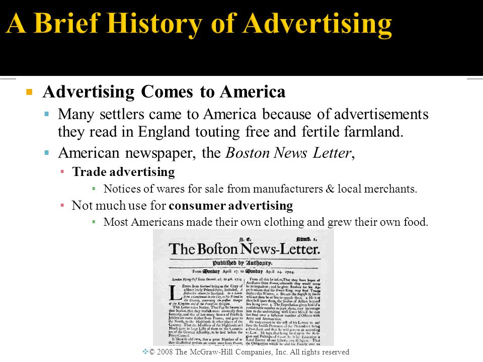  Ads and the Industrial Revolution  Advertising led to the diffusion of almost every type of innovation.