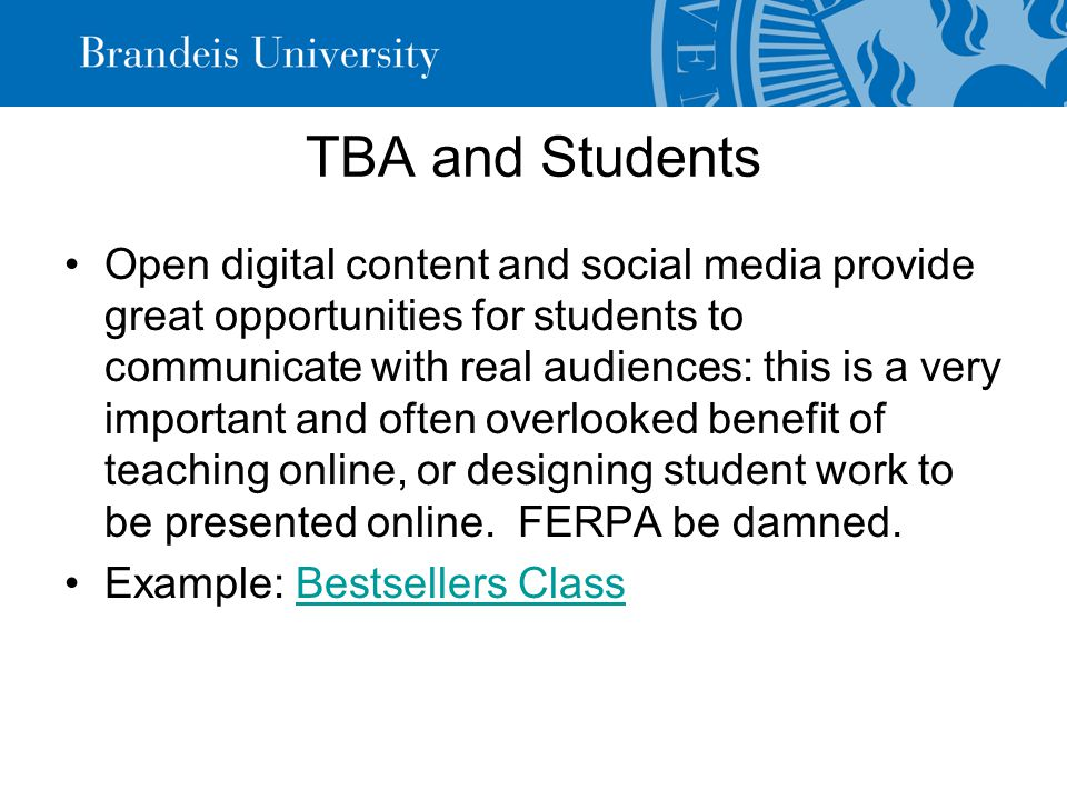 TBA as the lesson Some of the most important lessons in digital humanities have to do with learning how to elicit from a collaborator, or from textual sources, an articulation of tacit knowledge.