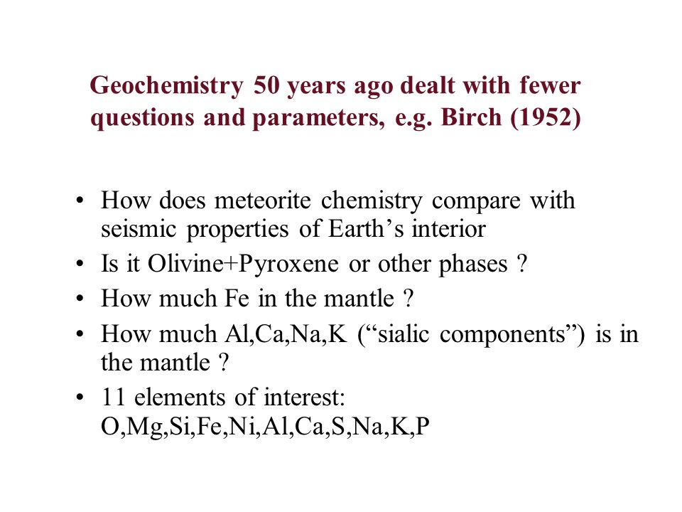 What can geochemistry do in 2004.
