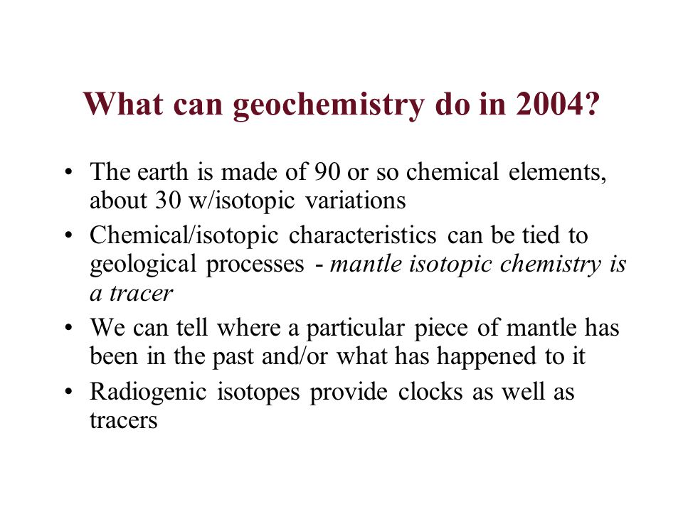 Questions for geochemistry How deeply does near surface material circulate into the mantle.