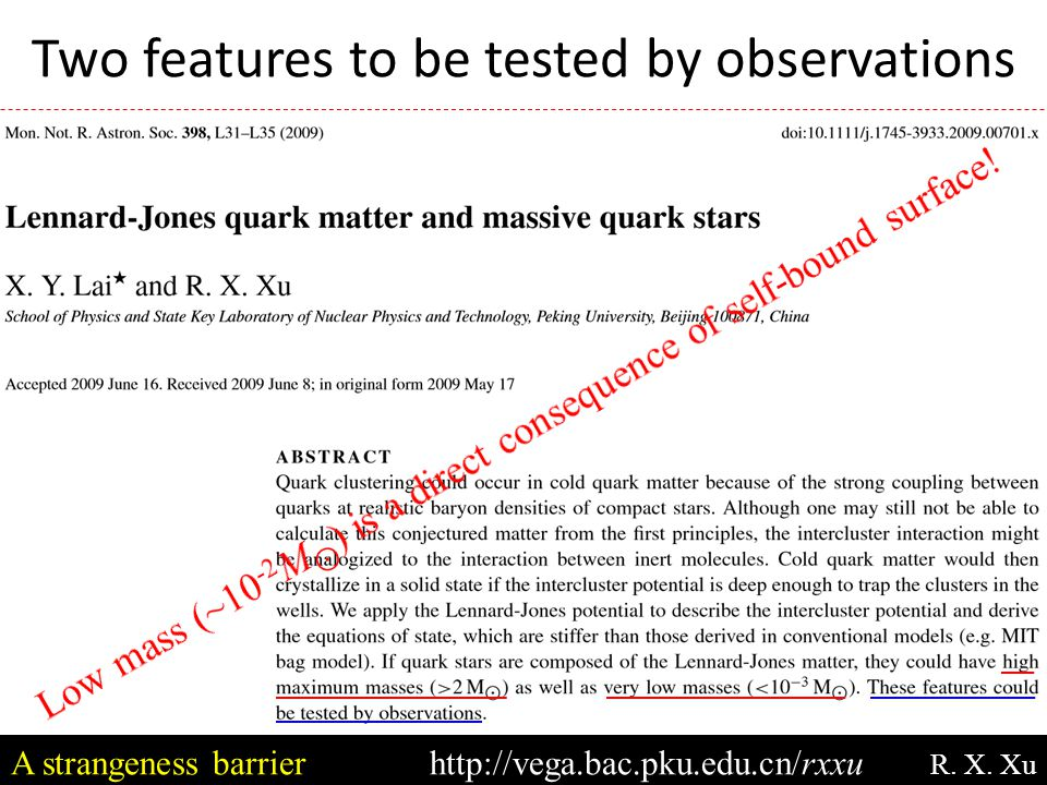 Summary Low-mass strange star: a candidate.