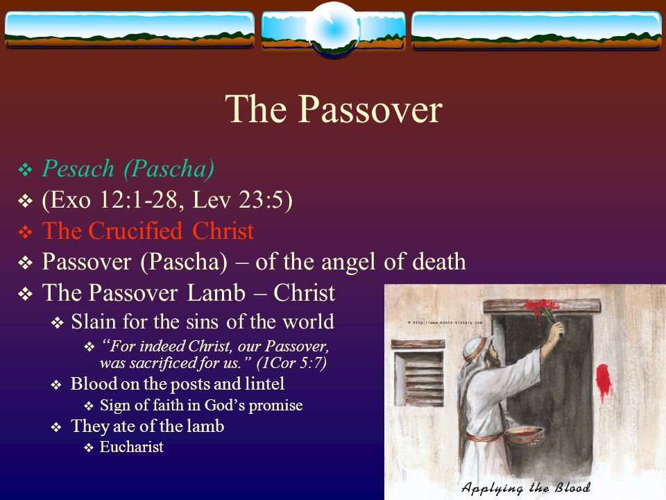 Feast of Unleavened Bread  Chag Hamatzot  (Exo 13:3-10, Lev 23:6-8)  The Afflicted Christ; The Burial of Christ  Starts the day after the Passover and lasts for seven days  Unleavened Bread – reminder that they left Egypt in haste (Exo 12, Deut 16)  Bread of Affliction – ( Deut 16) reminder of the affliction in Egypt  Leaven – symbol of sin – remove sin from among you, during and after the Passover (redemption)