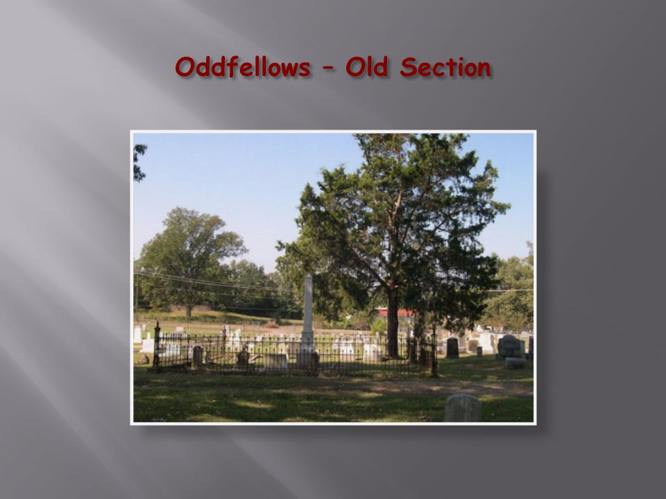Oddfellows Cemetery at Daybreak