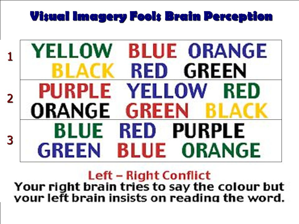 T-1.29 Visual Imagery Fools Brain Perception 123