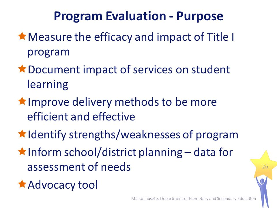 Program Evaluation – Key Questions Has the Title I program been effective.