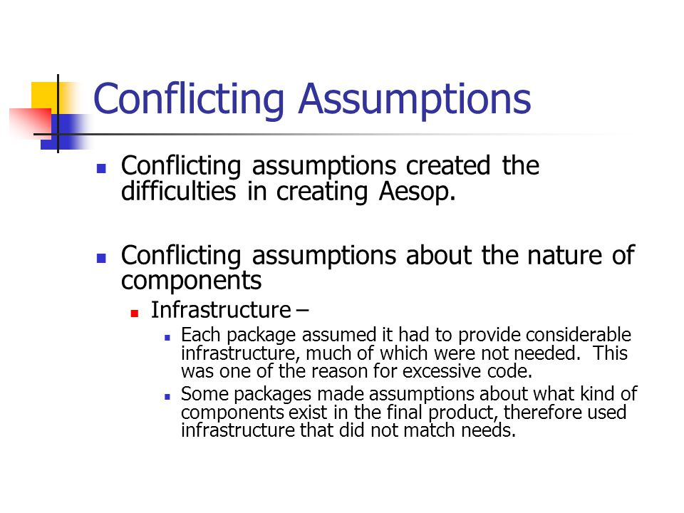 Control model – Assumptions about what part of software held the main thread of control.