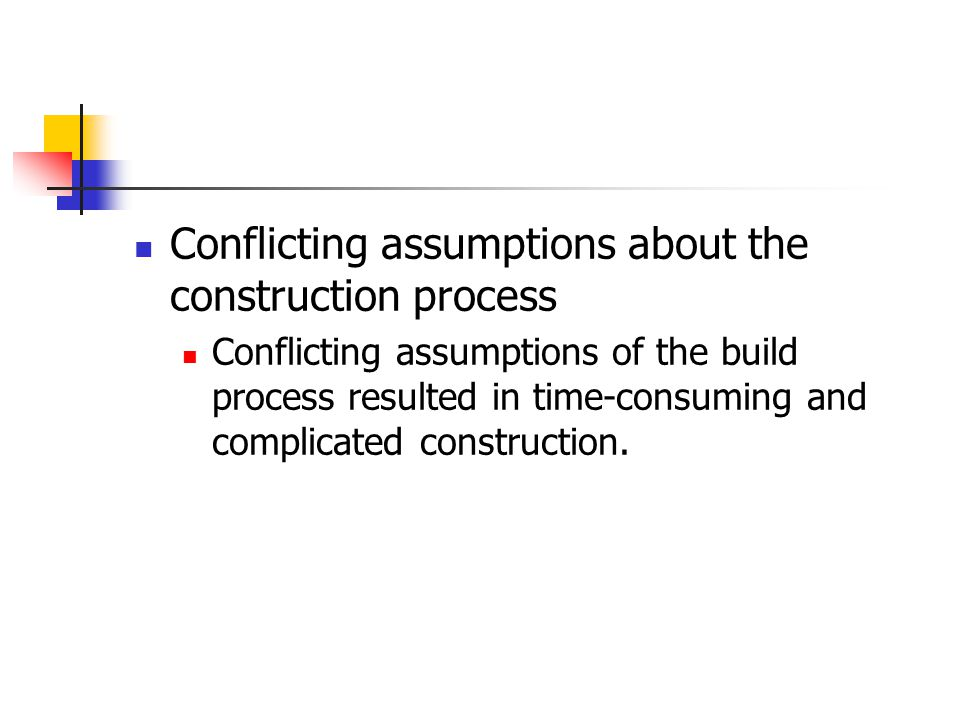 The Way Forward Make architectural assumptions explicit Use orthogonal subcomponents Ideally, designers should be able to modify the architectural assumptions by substituting different modules for the one already there.