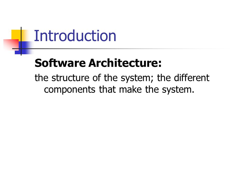 Introduction (cont.) Future breakthroughs in software productivity depend on the ability to combine existing pieces of software to produce new application.