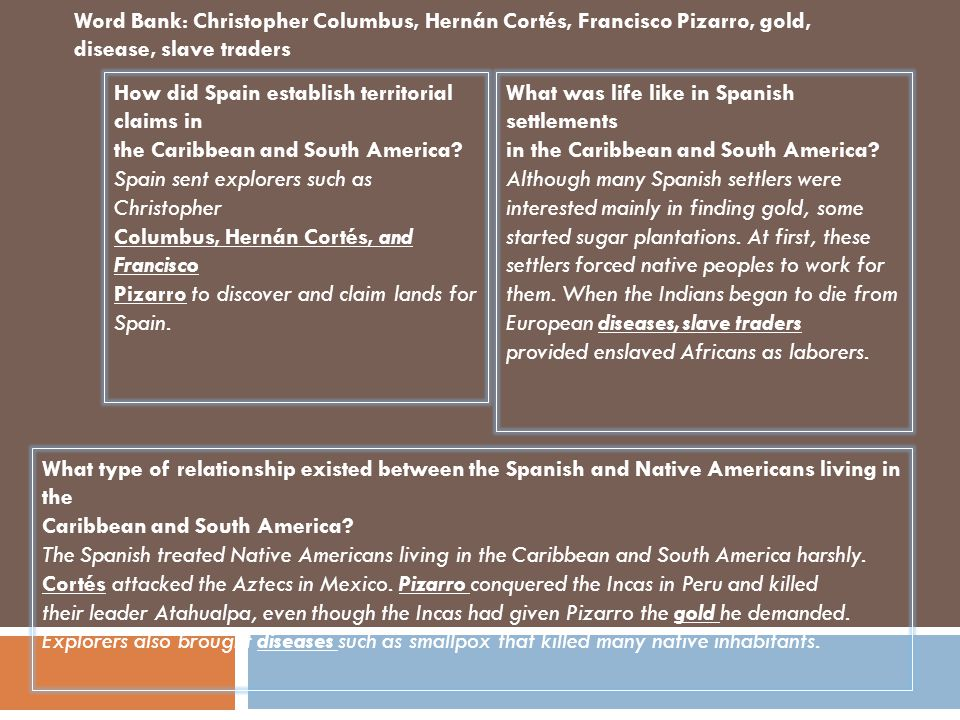 What type of relationship existed between the Spanish and Native Americans living in North America.