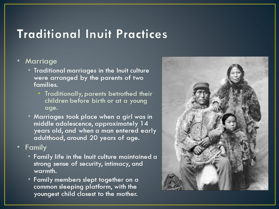Education Inuit children learned by carefully observing the examples set by their elders.
