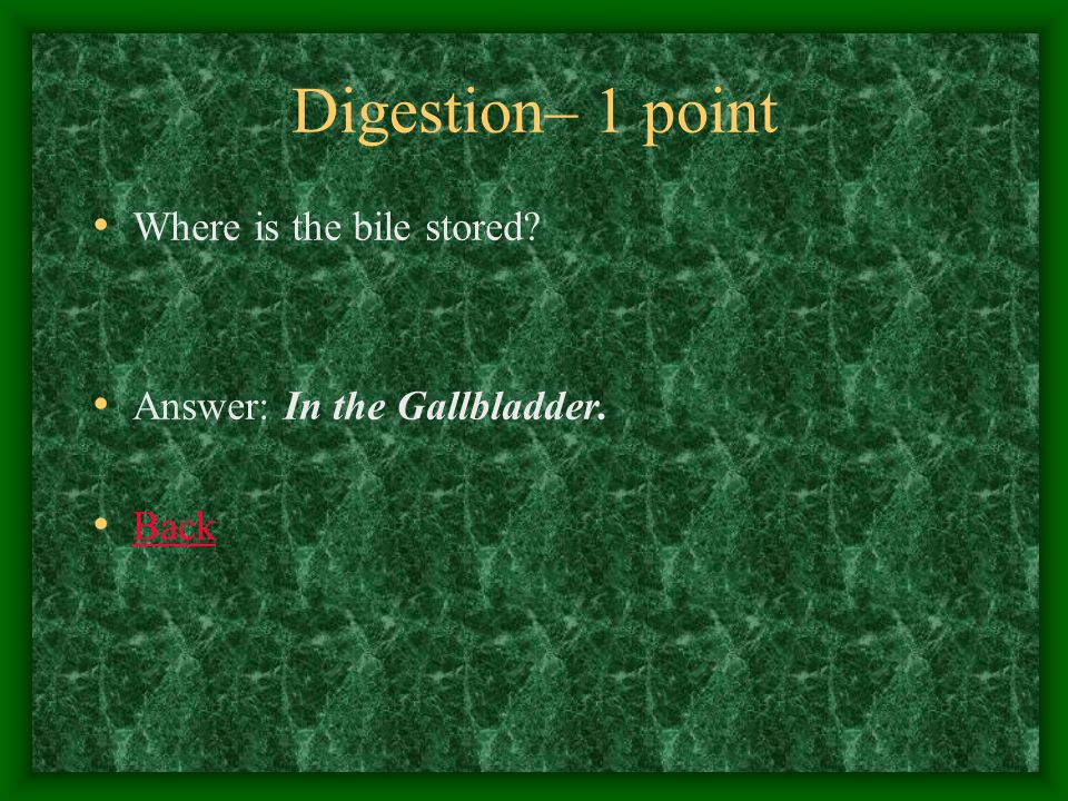Digestion– 2 points What is digested in the mouth.