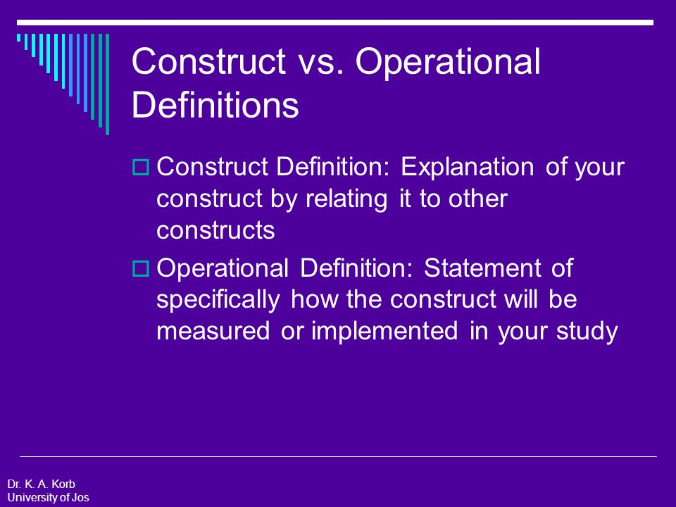 Construct vs.