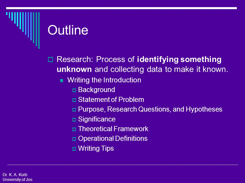 Review  Choose a research focus.