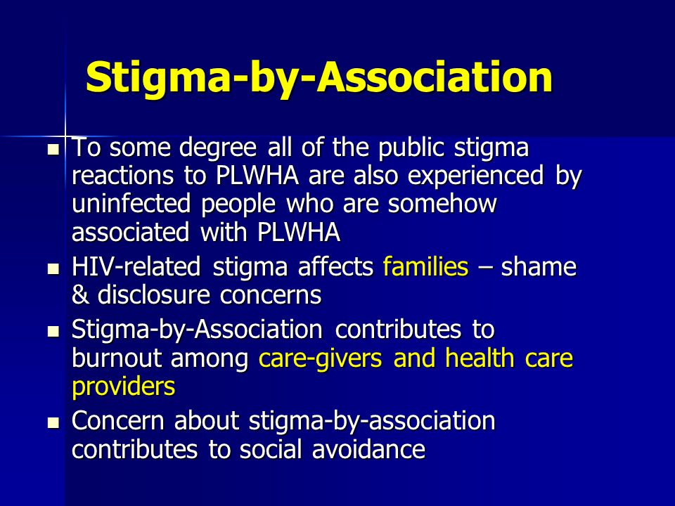 Institutional stigma Examples of stigmatizing government laws and policies The U.S.
