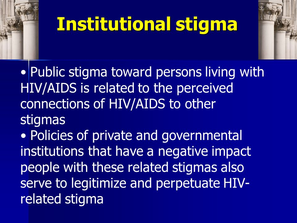 African Americans MSM IV Drug Users Stigmas related to HIV