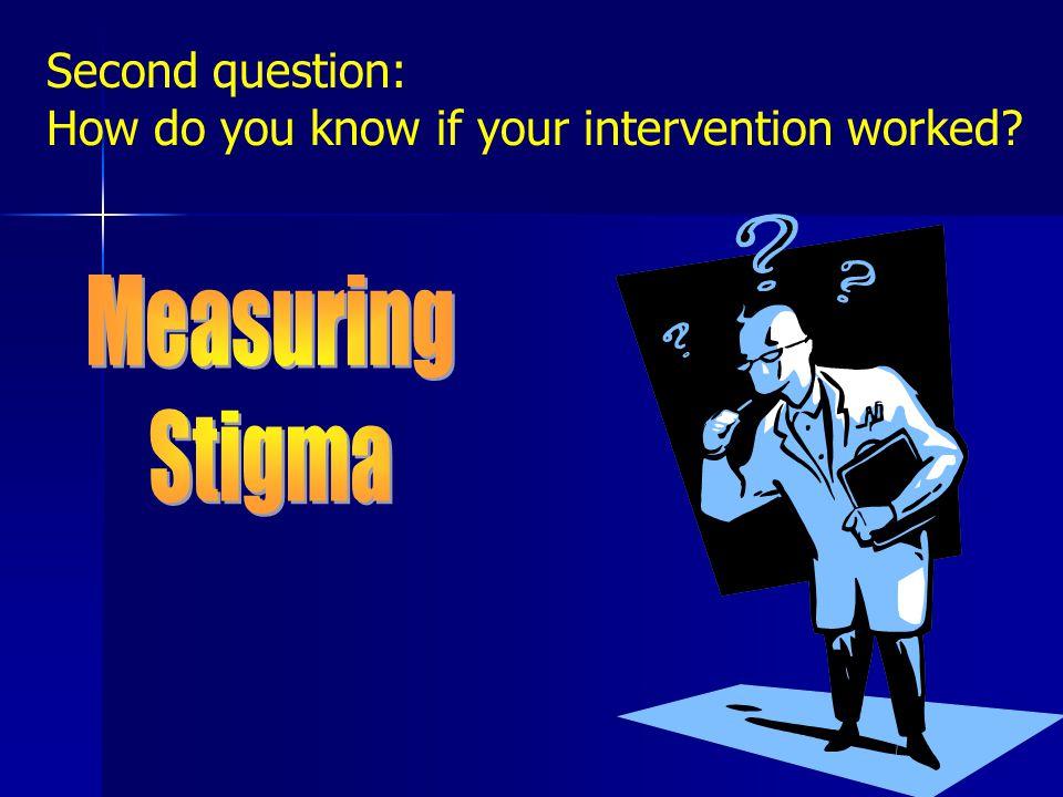 WHY MEASURE STIGMA.