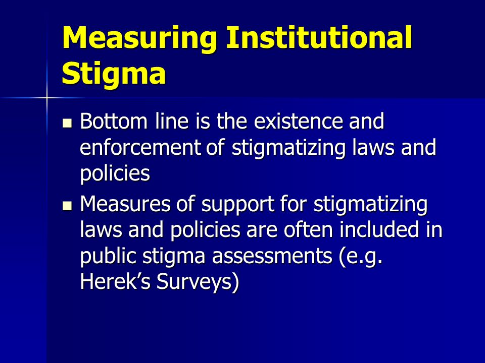 Anti-Stigma Interventions Almost all interventions intended to reduce public stigma rely in part upon education/information strategies.