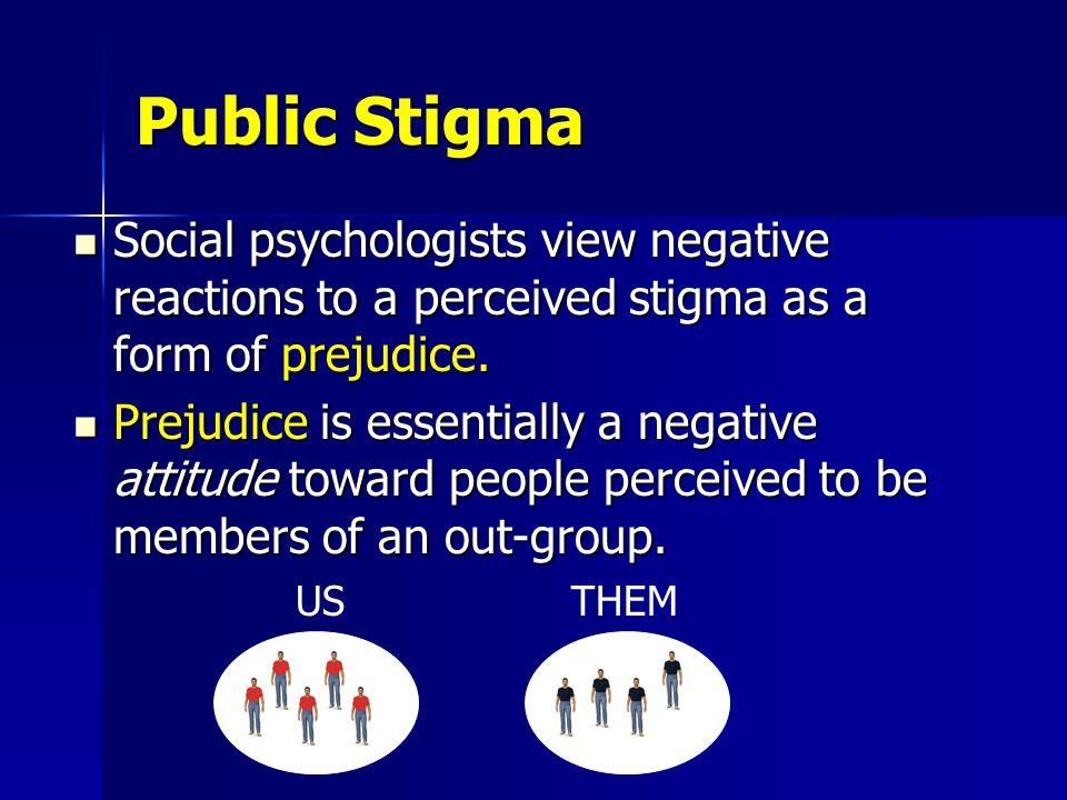 Tri-Part Conceptual Model of Public Stigma Cognitive Component Behavioral Component Affective Component