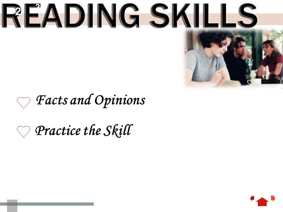 2 3 Facts and Opinions Practice the Skill