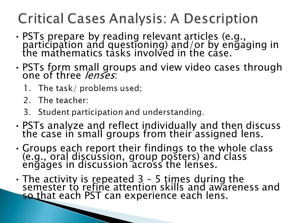  Each group focuses on their lens and responds to prompts given.