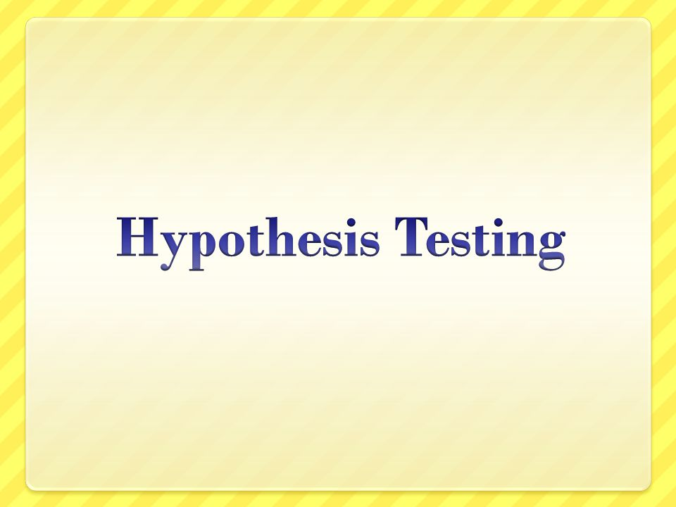 Overview This is the other part of inferential statistics, hypothesis testing Hypothesis testing and estimation are two different approaches to two similar problems  Estimation is the process of using sample data to estimate the value of a population parameter  Hypothesis testing is the process of using sample data to test a claim about the value of a population parameter