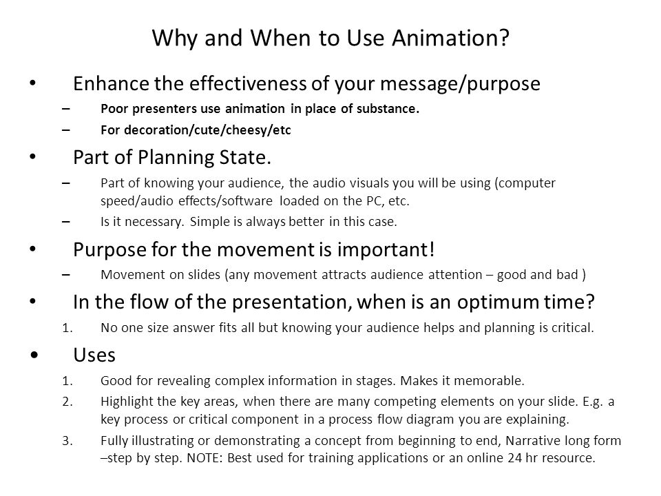 Why and When to Use Animation.