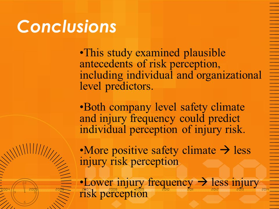 Conclusions Safety climate has greater effects on night shift workers than day shift workers.