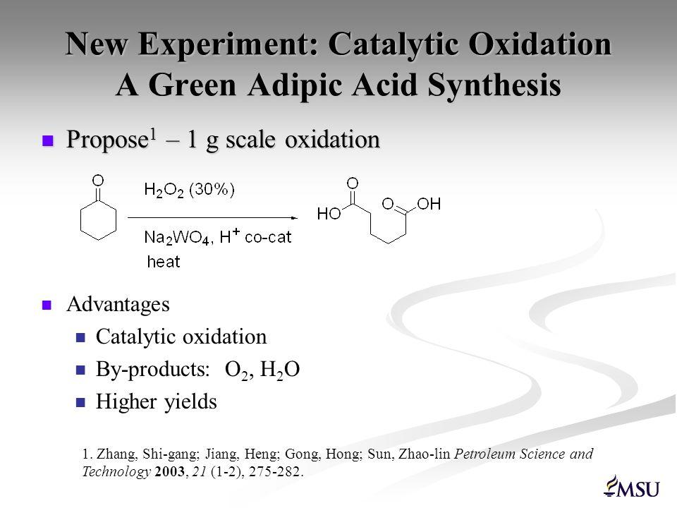 Experiment Evaluation Scores: KMnO 4 method: 16 Includes KMnO 4, NaOH, NaHSO 3, celite H 2 O 2 method: 9 Includes H 2 O 2, Na 2 WO 4, sulfosalicylic acid