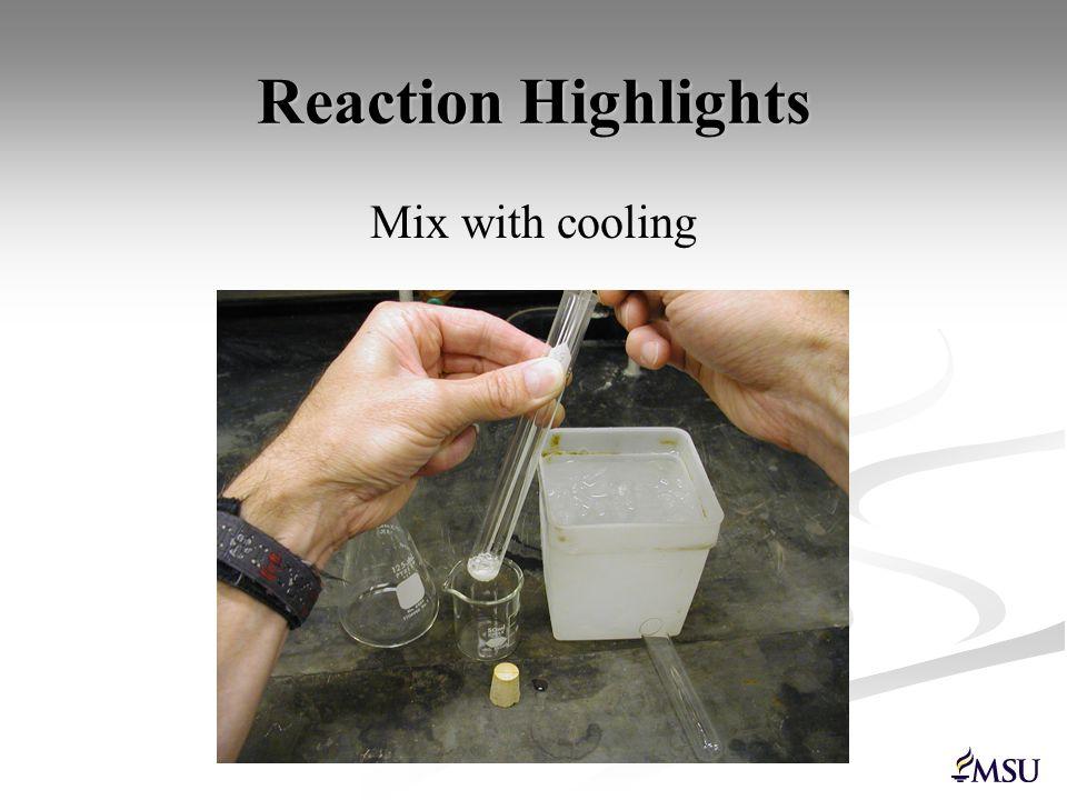 Reaction Highlights Heat in steam bath